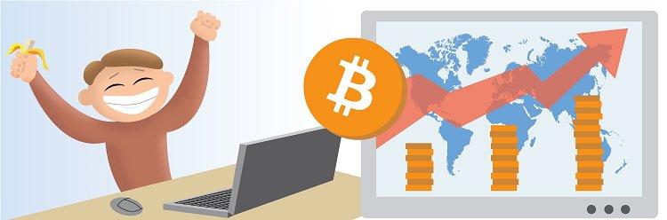 Обменять биткоины и эфиры можно на бирже в интернете