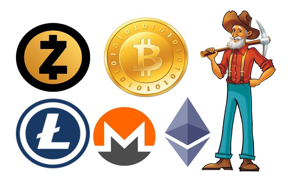 Майнингом можно зарабатывать многие криптовалюты.