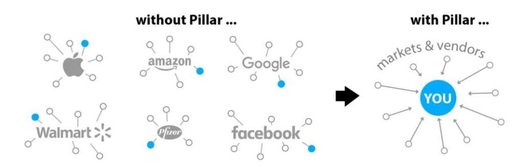 Разработчики Pillar продвигают платформу как проект, объединяющий ресурсы вокруг пользователя