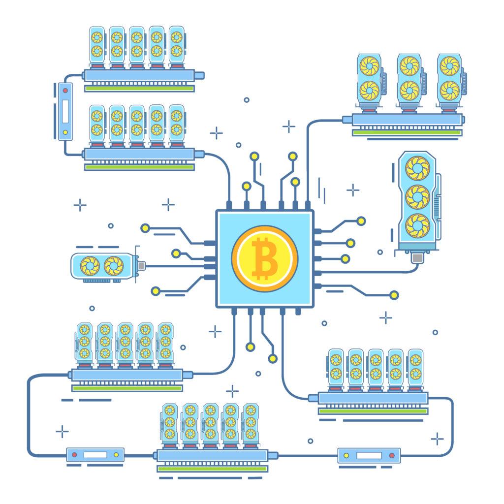 Перед сборкой бюджетной фермы для майнинга криптовалют нужно составить схему и продумать все заранее.