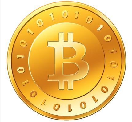 Монета биткоина.