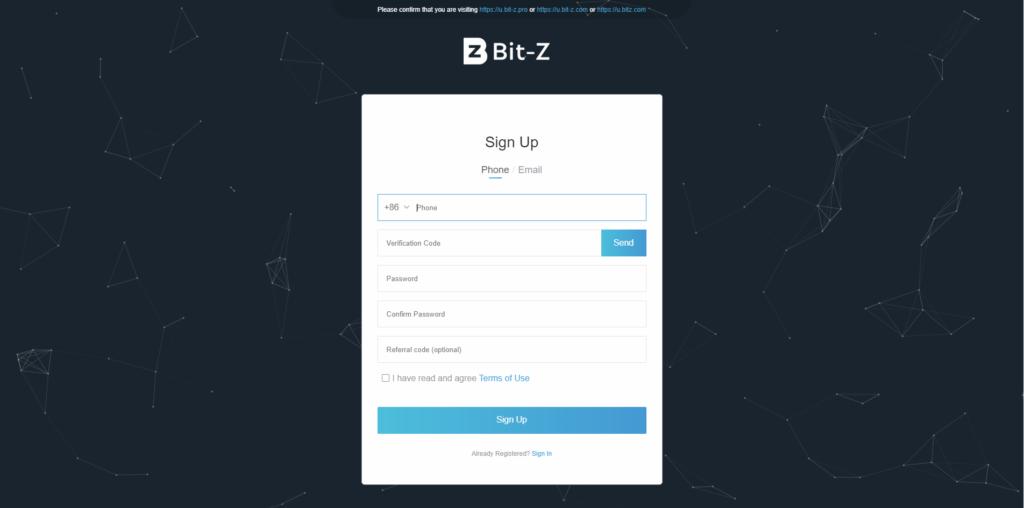 Как зарегистрироваться на бирже криптовалют BitZ