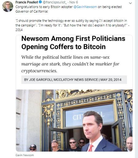 Криптовалютный губернатор - Гевин Ньюсон