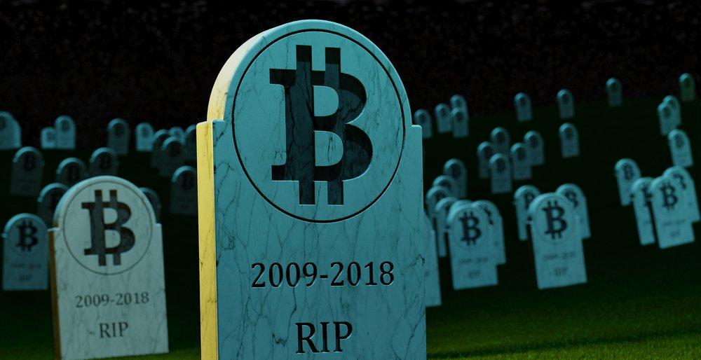 Смерть биткоина в 2018 году