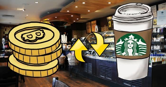 Кофейни Starbucks принимают биткоин