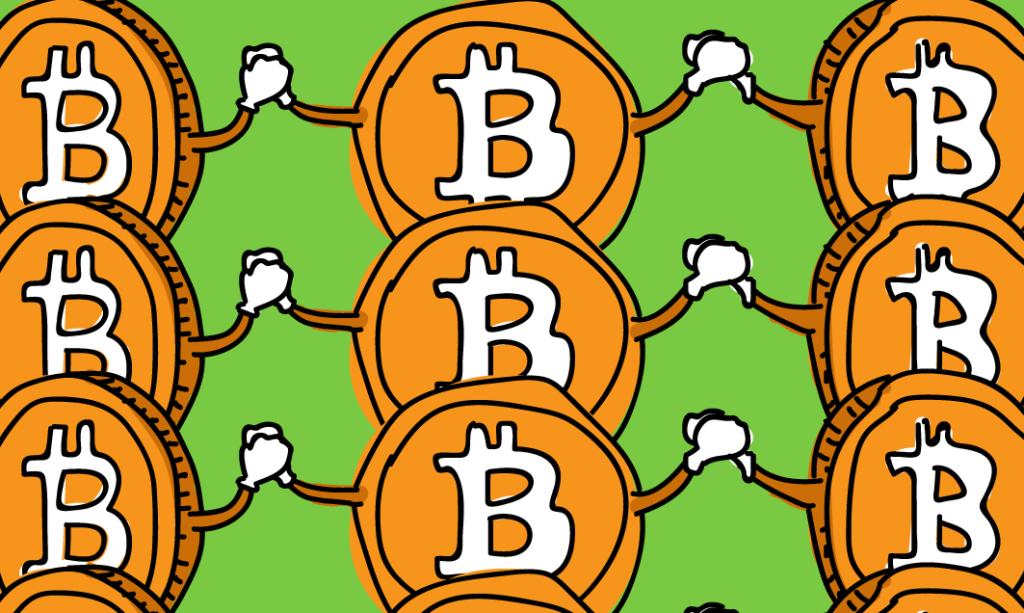 Биткоин наращивает объемы транзакций