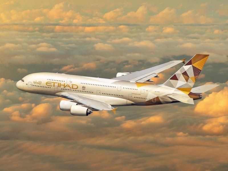 самолет авиакомпании Etihad Airways