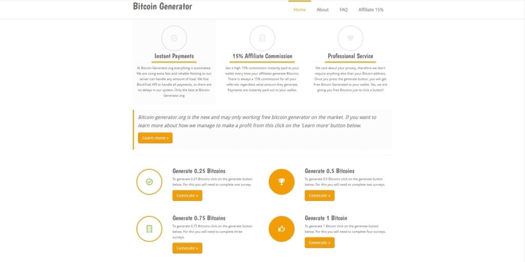 Официальный сайт биткоин-генератора